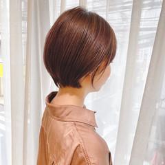 ショートボブ ショート 簡単ヘアアレンジ 大人可愛い ヘアスタイルや髪型の写真・画像