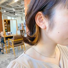 ショートボブ 切りっぱなしボブ ナチュラル ミニボブ ヘアスタイルや髪型の写真・画像
