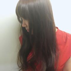 暗髪 ロング ゆるふわ ナチュラル ヘアスタイルや髪型の写真・画像