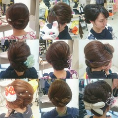 着物 ヘアアレンジ 夜会巻 エレガント ヘアスタイルや髪型の写真・画像