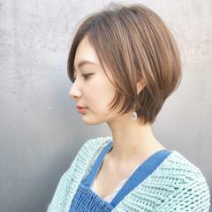ショート アウトドア パーマ ナチュラル ヘアスタイルや髪型の写真・画像