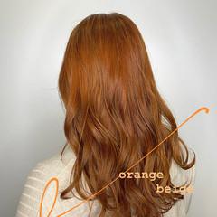 TOKIOトリートメント オレンジ ブリーチ ナチュラル ヘアスタイルや髪型の写真・画像