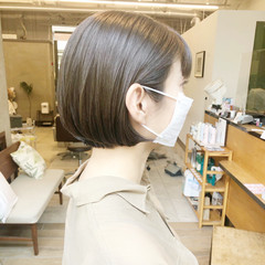 ミニボブ 大人かわいい 大人女子 ボブ ヘアスタイルや髪型の写真・画像