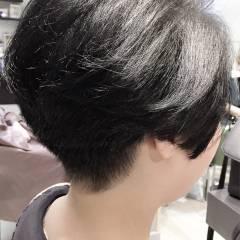 モード 暗髪 パンク 外国人風 ヘアスタイルや髪型の写真・画像