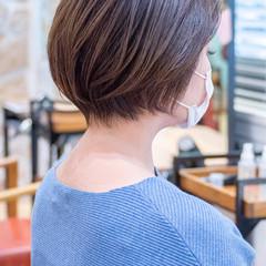 ショートヘア ショートボブ フェミニン 小顔ショート ヘアスタイルや髪型の写真・画像