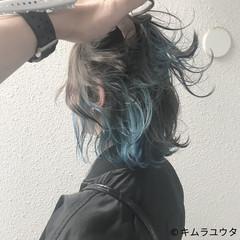 外国人風 ストリート ダブルカラー ボブ ヘアスタイルや髪型の写真・画像