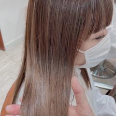 デザインカラー シアーベージュ ナチュラル 極細ハイライト ヘアスタイルや髪型の写真・画像