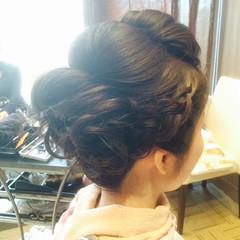ヘアアレンジ 編み込み ロング ブライダル ヘアスタイルや髪型の写真・画像
