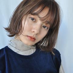 シースルーバング ミニボブ オルチャン 透明感カラー ヘアスタイルや髪型の写真・画像