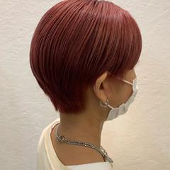 ピンクバイオレット ベリーピンク ショートヘア ピンク ヘアスタイルや髪型の写真・画像