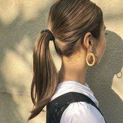 アウトドア アンニュイほつれヘア ロング デート ヘアスタイルや髪型の写真・画像