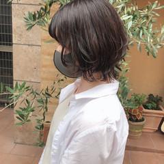 ナチュラル ショートボブ ウルフカット ショートヘア ヘアスタイルや髪型の写真・画像
