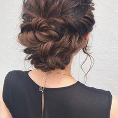 エレガント ヘアアレンジ ゆるふわセット 結婚式ヘアアレンジ ヘアスタイルや髪型の写真・画像