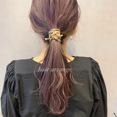 簡単ヘアアレンジ ロング フェミニン 大人可愛い ヘアスタイルや髪型の写真・画像