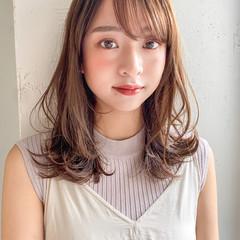 ミディアム 大人かわいい ナチュラル ヘアアレンジ ヘアスタイルや髪型の写真・画像