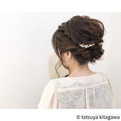 結婚式 二次会 ヘアアレンジ エレガント ヘアスタイルや髪型の写真・画像