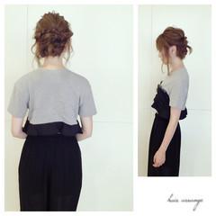 ツイスト ミディアム 簡単ヘアアレンジ 編み込み ヘアスタイルや髪型の写真・画像