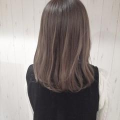 ハイトーン ボブ 伸ばしかけ 透明感 ヘアスタイルや髪型の写真・画像