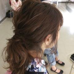 ヘアアレンジ セミロング ハーフアップ 大人女子 ヘアスタイルや髪型の写真・画像