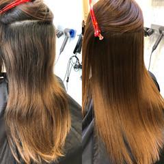 艶髪 トリートメント 髪質改善トリートメント セミロング ヘアスタイルや髪型の写真・画像