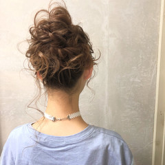 上品 お団子 パーティ ロング ヘアスタイルや髪型の写真・画像