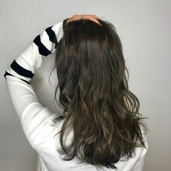 外国人風フェミニン ナチュラル セミロング 外国人風 ヘアスタイルや髪型の写真・画像