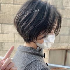 ショートヘア ショート ショートカット フェミニン ヘアスタイルや髪型の写真・画像