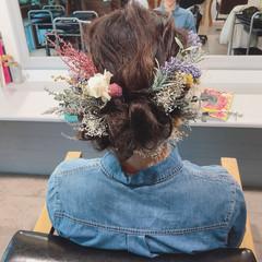 成人式 デート ヘアアレンジ ナチュラル ヘアスタイルや髪型の写真・画像