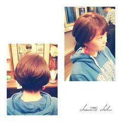 大人かわいい ショートバング アッシュ ショートボブ ヘアスタイルや髪型の写真・画像