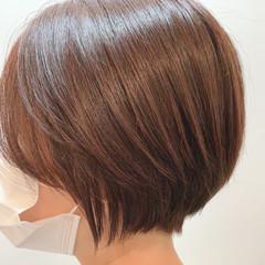 ショートボブ ミニボブ 切りっぱなしボブ ショートヘア ヘアスタイルや髪型の写真・画像