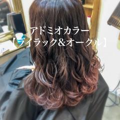 ふんわり ロング グラデーションカラー 可愛い ヘアスタイルや髪型の写真・画像