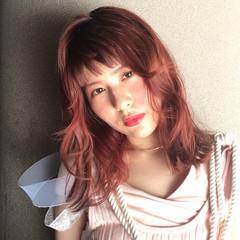 セミロング モード ショートバング 個性的 ヘアスタイルや髪型の写真・画像