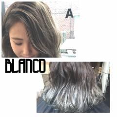 グラデーションカラー 外国人風カラー ミディアム グレージュ ヘアスタイルや髪型の写真・画像