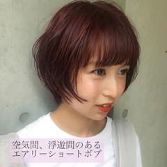 ショート ショートヘア ミニボブ フェミニン ヘアスタイルや髪型の写真・画像