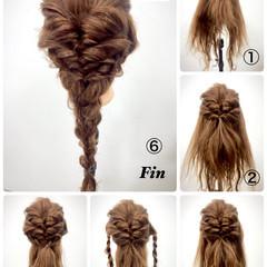 ショート アッシュ ハーフアップ セミロング ヘアスタイルや髪型の写真・画像