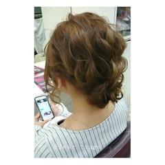 ヘアアレンジ ミディアム ハイライト ゆるふわ ヘアスタイルや髪型の写真・画像