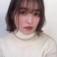 パーティ ボブ デジタルパーマ ミニボブ ヘアスタイルや髪型の写真・画像