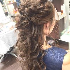 フェミニン ゆるふわ ロング ヘアアレンジ ヘアスタイルや髪型の写真・画像