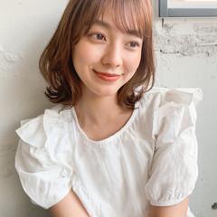 韓国ヘア 外ハネ ナチュラル 透明感カラー ヘアスタイルや髪型の写真・画像