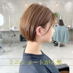ショートボブ ナチュラル ベリーショート インナーカラー ヘアスタイルや髪型の写真・画像