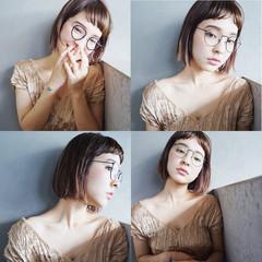 ボブ 抜け感 モード ストレート ヘアスタイルや髪型の写真・画像