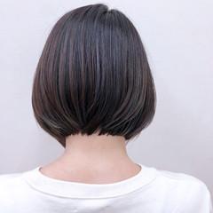暗髪 大人かわいい ナチュラル ボブ ヘアスタイルや髪型の写真・画像