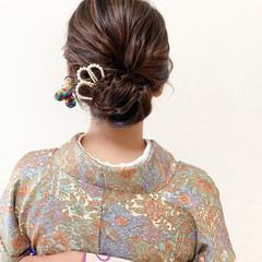 エレガント パーティー お呼ばれ ミディアム ヘアスタイルや髪型の写真・画像