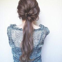ロング 結婚式 フェミニン 大人女子 ヘアスタイルや髪型の写真・画像