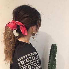 外国人風 デート 涼しげ ロング ヘアスタイルや髪型の写真・画像