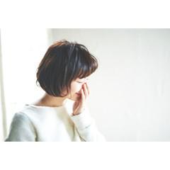 簡単 ボブ フェミニン ナチュラル ヘアスタイルや髪型の写真・画像
