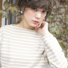 大人かわいい ショート 外国人風 外国人風カラー ヘアスタイルや髪型の写真・画像