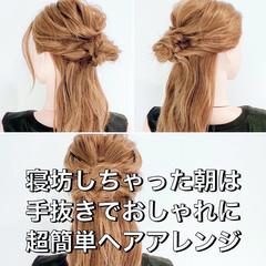ヘアアレンジ フェミニン お団子ヘア お団子アレンジ ヘアスタイルや髪型の写真・画像