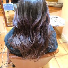 エレガント ピンクラベンダー ラベンダー グラデーションカラー ヘアスタイルや髪型の写真・画像