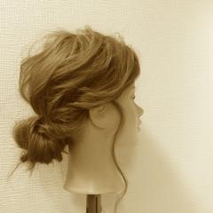 ヘアアレンジ 簡単ヘアアレンジ 大人かわいい セミロング ヘアスタイルや髪型の写真・画像